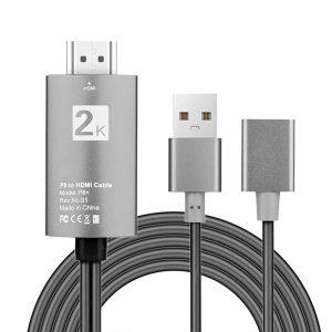 Cable USB a HDMI 3 en 1 con puerto de carga USB 2K HD 1080P Digital HDTV TV adaptador AV, compatible con todos los teléfonos