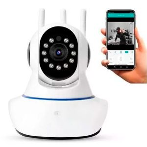 Cámara Inalambrica Robótica Wifi /infrarroja /alarma /micro Sd /audio 3 Antenas 360º