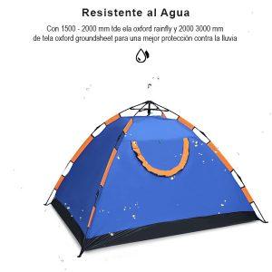 Tienda de campaña automática al aire libre de 3 personas, armado rápido para la playa, protección solar, acampar carpa de Camping