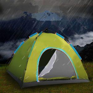 Tienda de campaña automática al aire libre de 4 personas, armado rápido para la playa, protección solar, acampar carpa de Camping