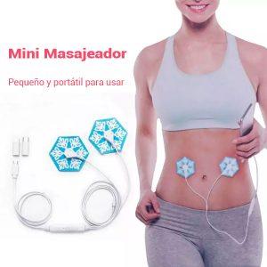 Mini masajeador Portátil Estimulador muscular para relajarse con conexión al teléfono Gimnasia Pasiva 2 Electrodos