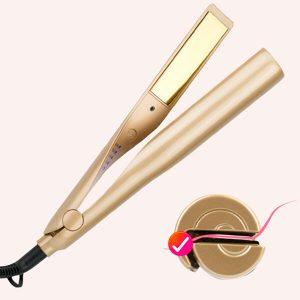 Plancha De Cabello Profesional 2-in-1 Alisadora Rizadora de TITANIO Hair Curling Straightening Iron QL-105