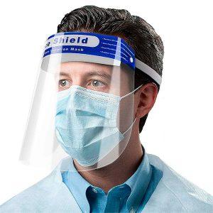 Protector facial transparente completo contra salpicaduras cubierta facial con cojín en la frente no se empaña PEDIDO MÍNIMO 15 UNIDADES