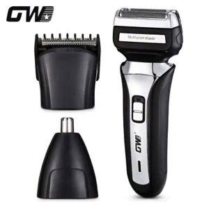 Máquina de afeitar eléctrica recargable portátil multifuncional 3 en 1 GW-1008