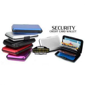 Protector de Tarjetas De Aluminio (Security Credit Card Wallet) varios colores
