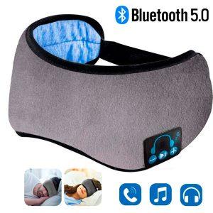 Antifaz Bluetooth para dormir con audífonos Bluetooth 5.0, micrófono, supersuave, lavable, manos libres
