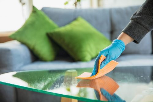 Disinfecting in home during epidemic - prevention and protection of coronavirus spreading