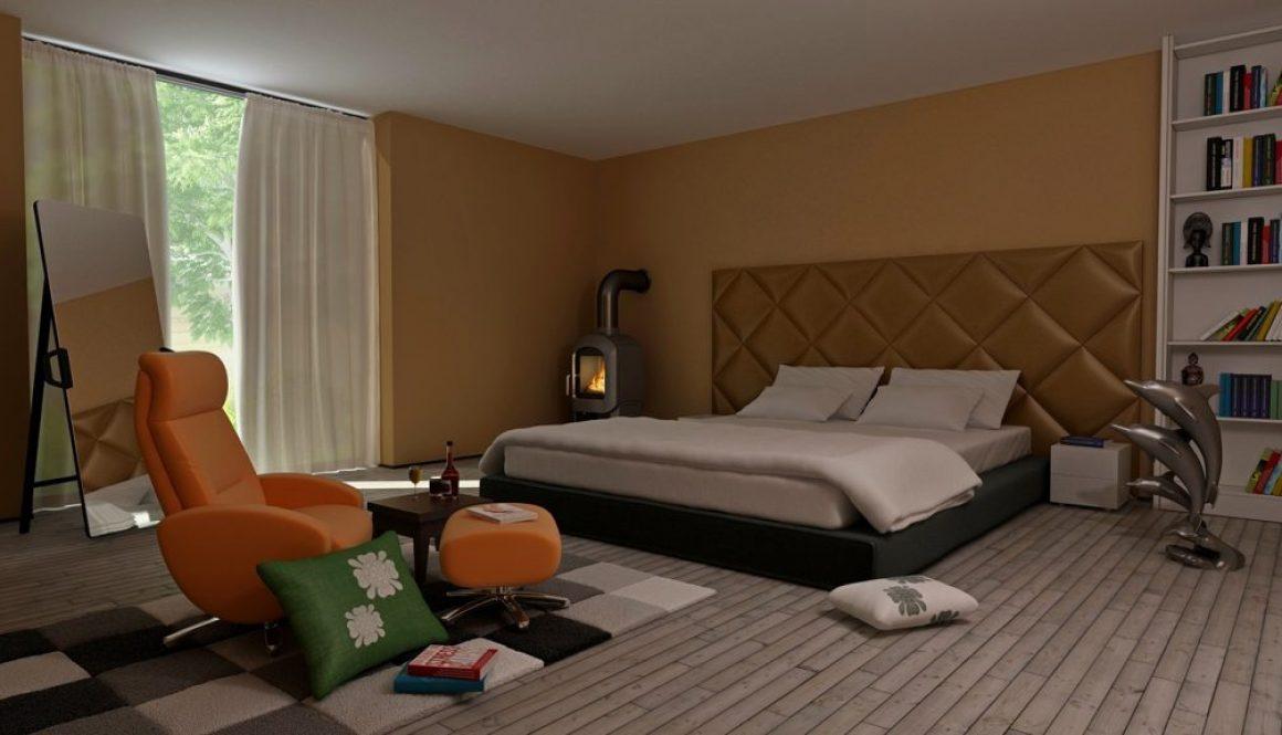 Retro Modern Bedroom Interior