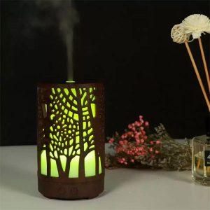 Difusor 200ML ultrasónico humidificador de aire con 7 colores que cambian de luz