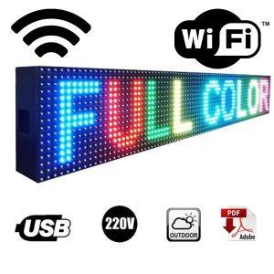 LETRERO LED PROGRAMABLE 160x20cm / 130x20cm con WiFi