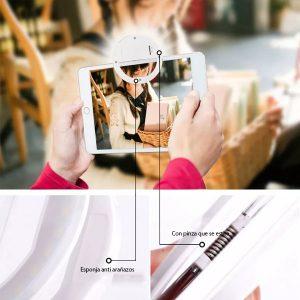Aro de luz portátil Universal Selfie Ring Flash Led lámpara teléfono móvil Iphone xiaomi